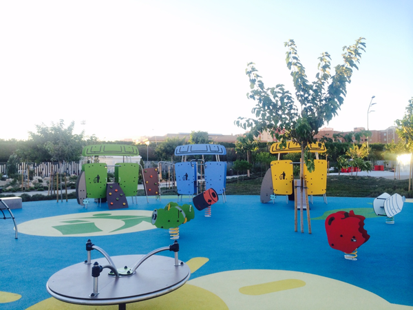 The City of Almeria Spain Playground