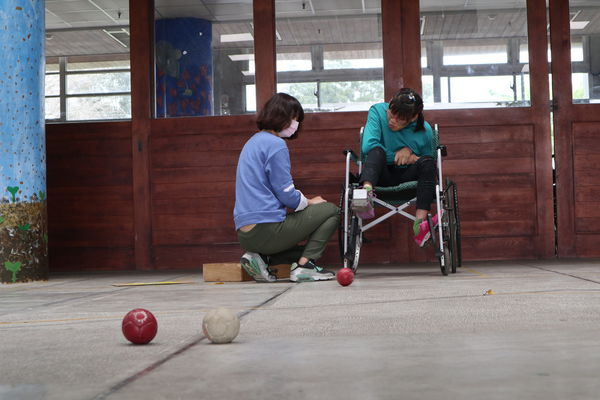 Shouran loves playing BOCCIA competition